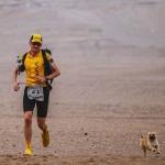 Egy kóbor kutya segítette a futót a hosszú, sivatagi versenyen