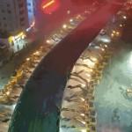 116 munkagéppel bontottak el egy este alatt egy 500 méter hosszú felüljárót