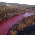 Vérvörössé vált egy oroszországi folyó