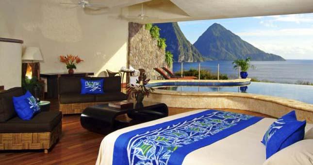Jade Mountain Hotel, St. Lucia Kelet Karib-tenger