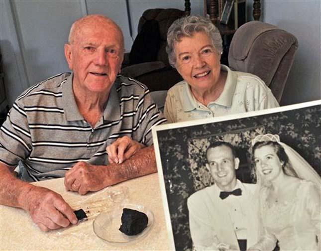 60 éves esküvői torta