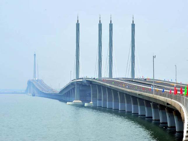 Qingdao Haiwan híd, a világ leghosszabb tengeri hídja