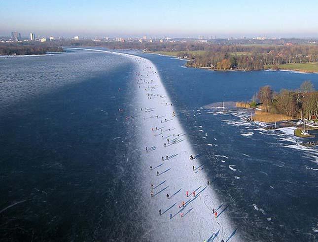 Paterswoldse Meer-i korcsolyapálya Groningen