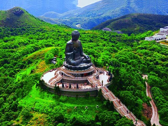 Tian Tan Buddha, Lantau-sziget, Hongkong, Kína