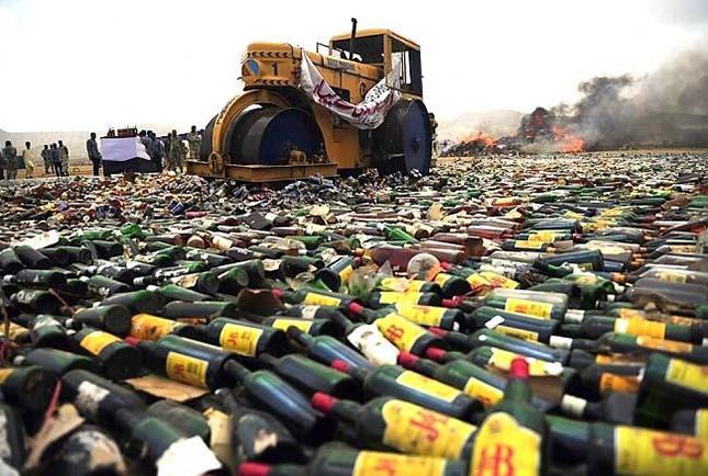 Alkohol megsemmisítés