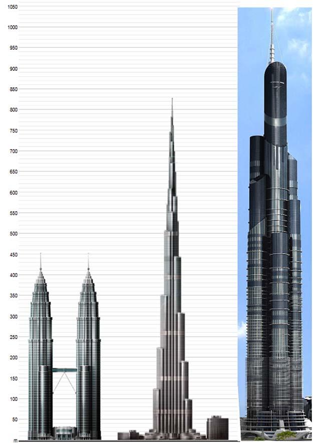 Azerbajdzsán Torony, 1050 méter magas felhőkarcolót terveznek