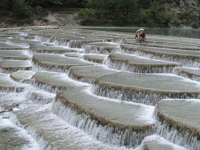 Baishuitai, mészkőteraszok Kínában