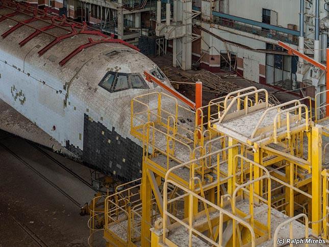Burans űrrepülőgépek Bajkonurban