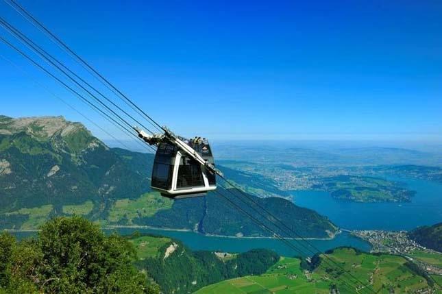 Svájc nyaralás a hegyekben télen. Svájcban látni kell Síszezon Svájcban