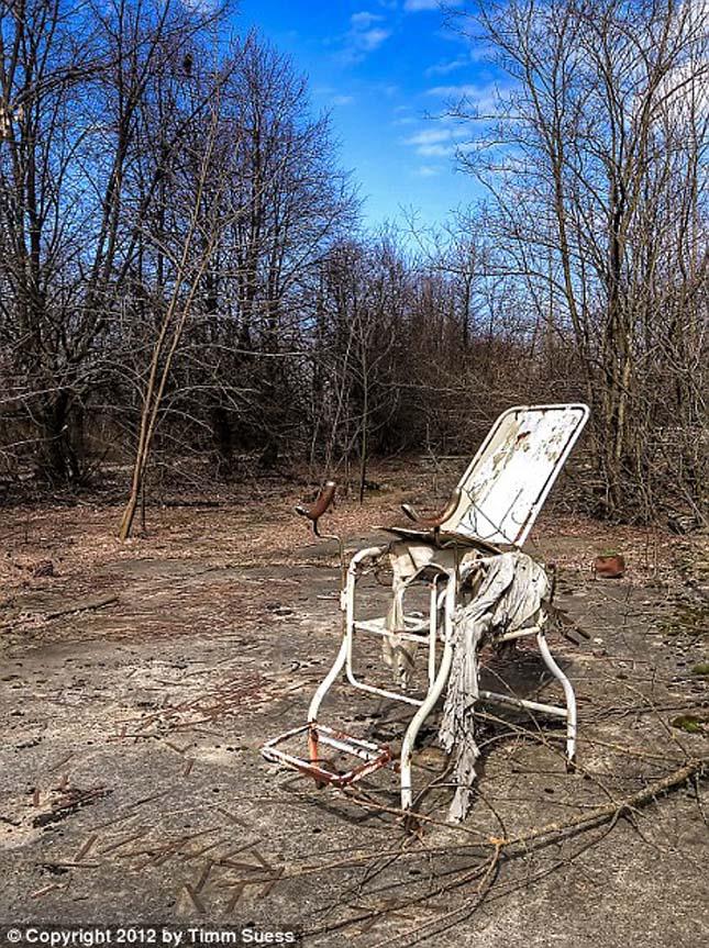 Csernobil elhagyatott kórháza