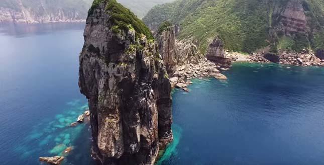 Drónvideó gyönyörű japán szigetekről