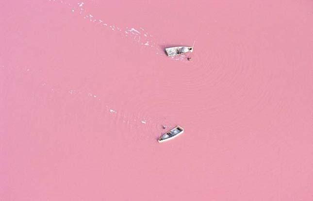 Az epershake színű tó