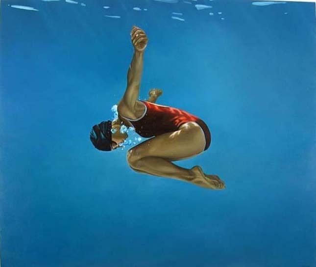 Eric Zener víz alatti festményei