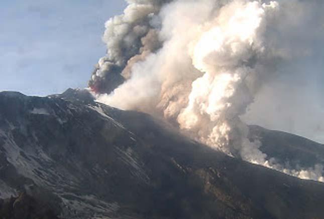Kitört az Etna, 2013.02.19