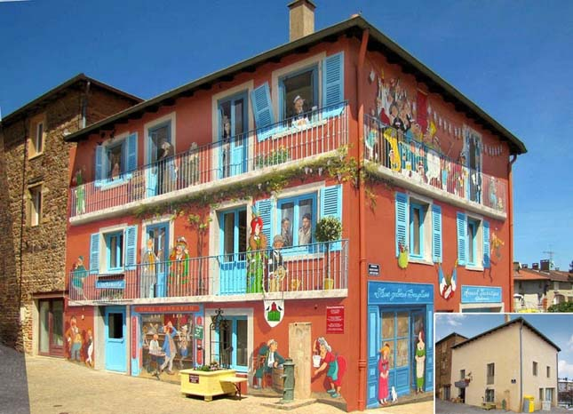 Falfestmények Franciaországban