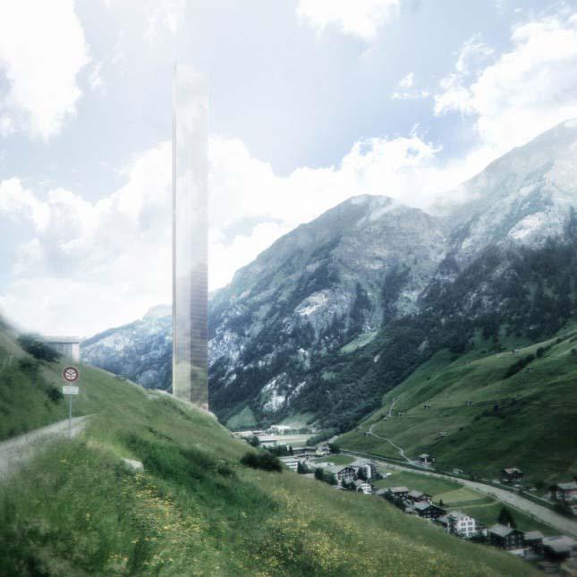 Felhőkarcoló az Alpokban