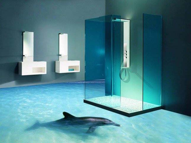 3D fürdőszoba padlók