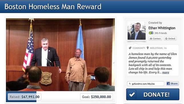 Glen James, becsületes hajléktalan