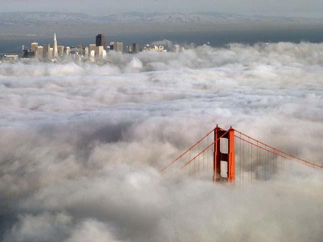 A ködben úszó Golden Gate