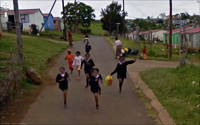 Google Streetview érdekes jelenetei