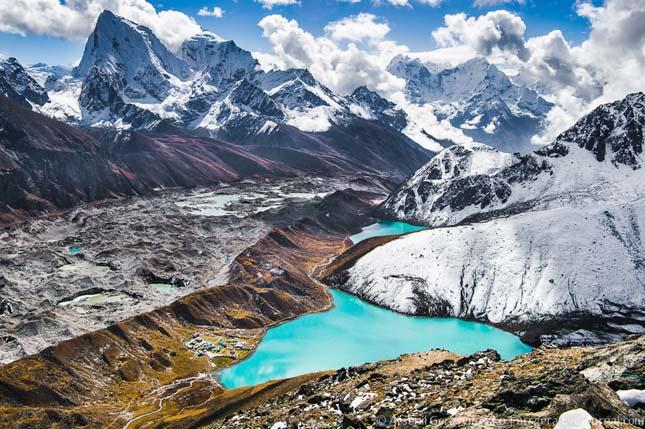 Cholatse, Taboche és Thamserku csúcsok, Himalája