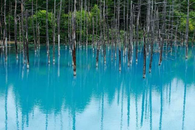 Kék tó Hokkaido városában