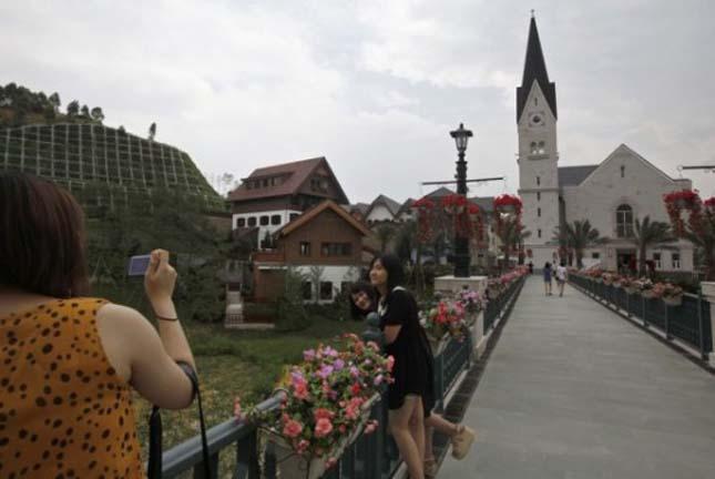 Osztrák város másolata épült Kínában, Hallstatt
