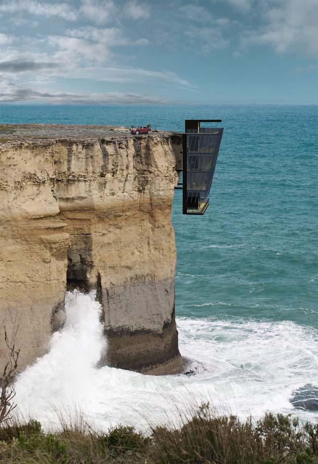 Ház a a sziklafalon
