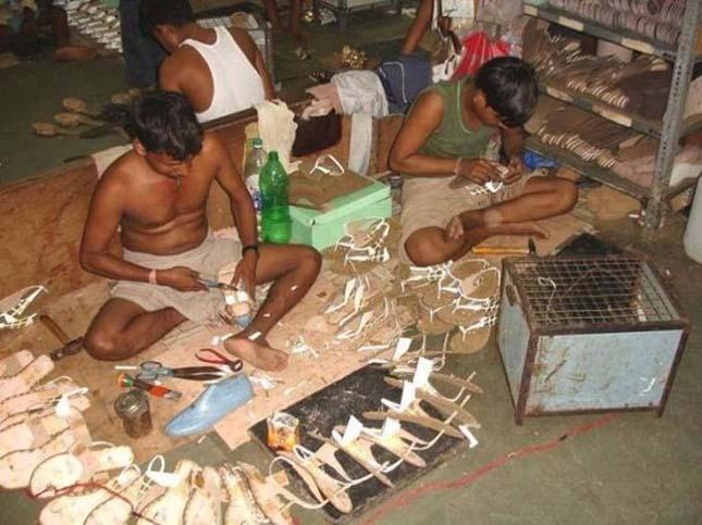 Cipőgyár Indiában