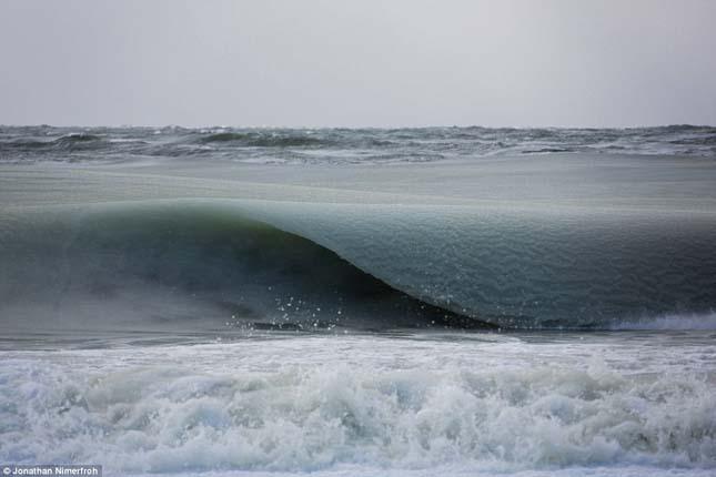 Jégkásává fagyott az óceán