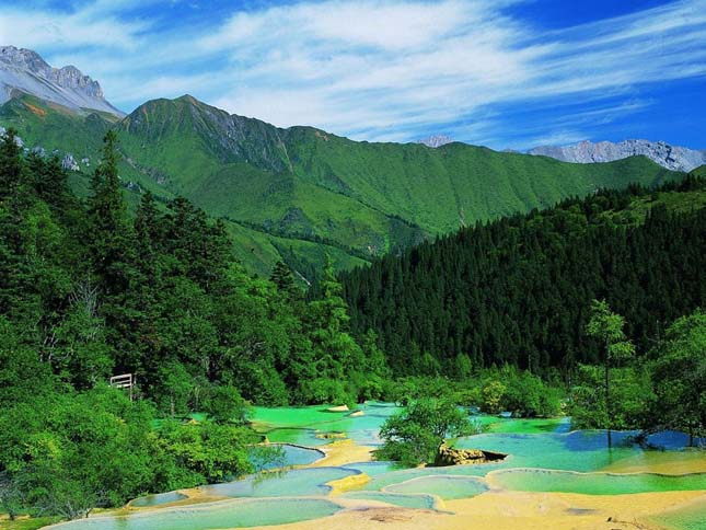 Jiuzhaigou-völgy, Kína