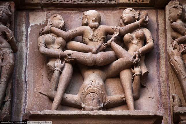 Khajuraho - A Káma-Szura templom