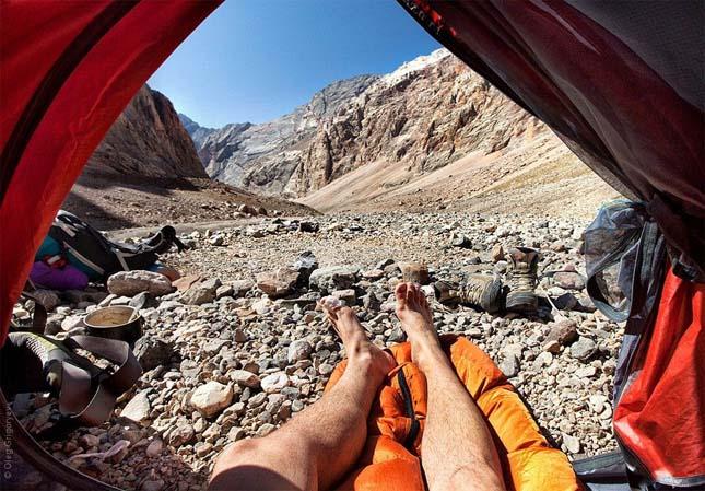 Kilátás a sátorból
