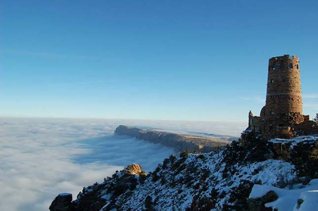 Ködben úszó Grand Canyon
