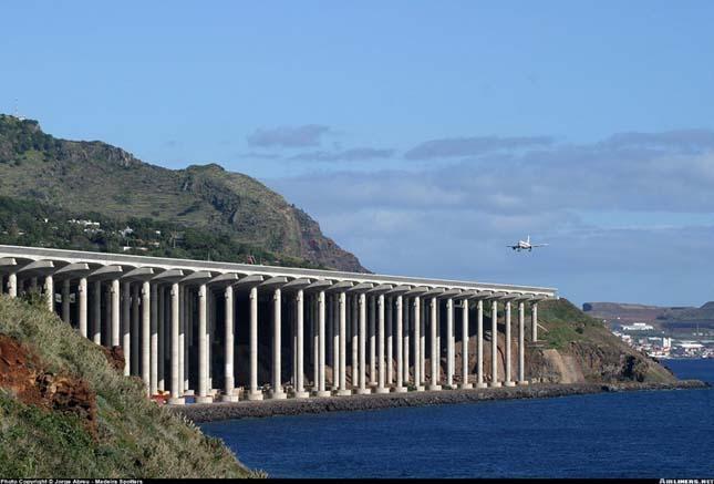 Landolás Madeira repülőterén