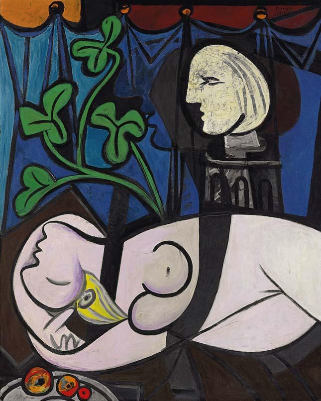 Pablo Picasso - Akt,zöld levelekés mellszobor
