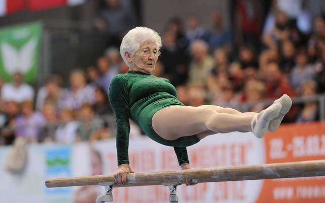 Johanna Quaas, a világ legidősebb tornásza
