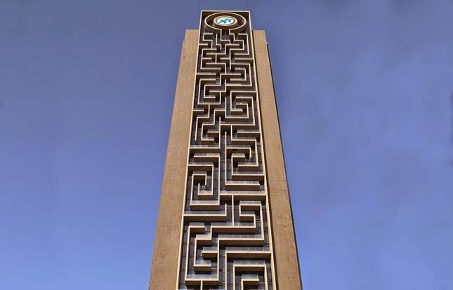 Labirintus-torony - Maze Tower, Dubai