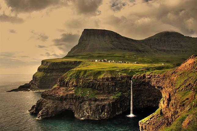 Gásadalur village, Feröer-szigetek
