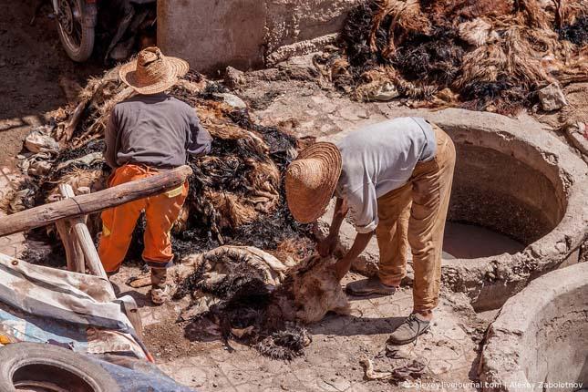 Bőrgyár Marokkóban