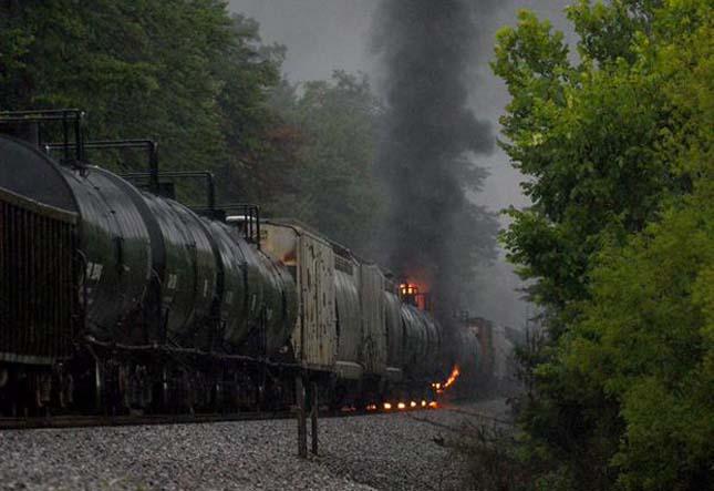 Kigyulladt vonat