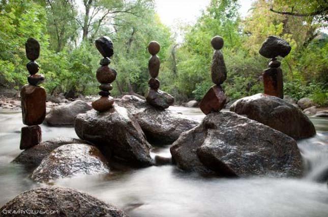 Elképesztő, gravitációt meghazudtoló kőtornyok - Mike Grab művészete