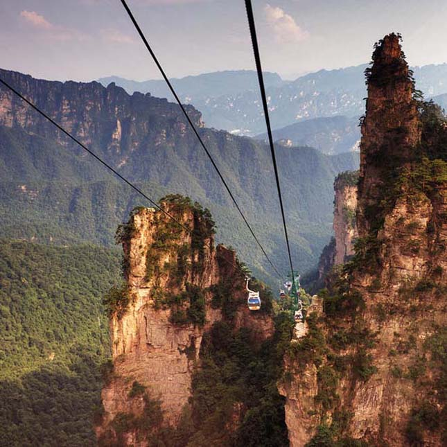 Zhangjiajie Nemzeti Park, az UNESCO Világörökség része