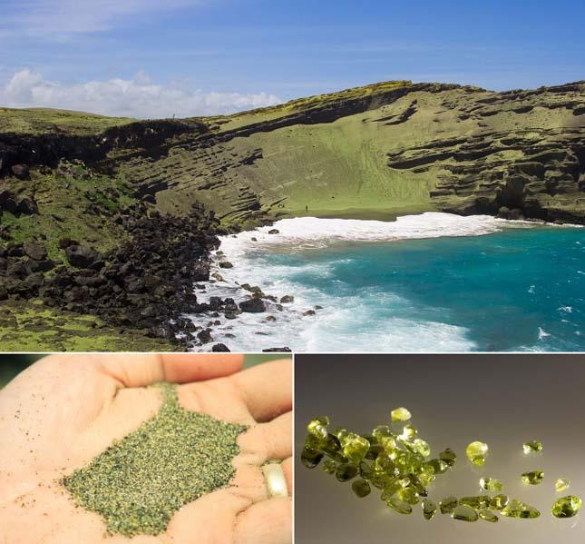 Papakolea zöld tengerpartja