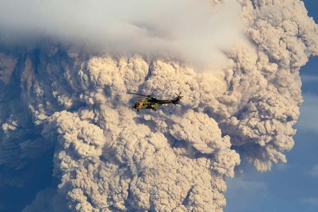 Puyehue vulkán kitörése