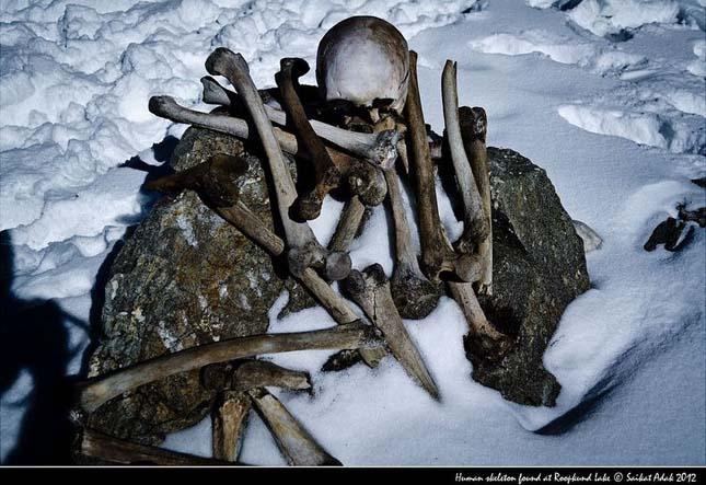 Csontváz-tó Indiában
