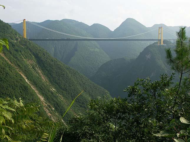 Siduhe river függőhíd, Kína