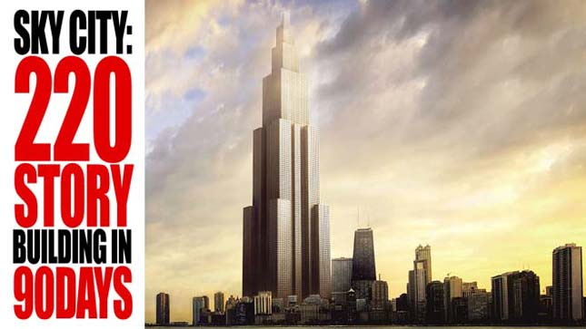 A kínai Sky City lesz a világ legmagasabb felhőkarcolója