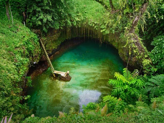 Sua Ocean Trench, gyönyörű tó a Szamoa-szigeteken