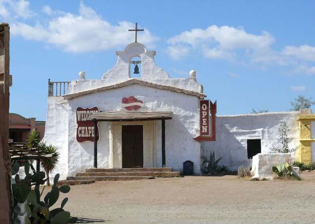 Western film díszletek a Tabernas-sivatagban